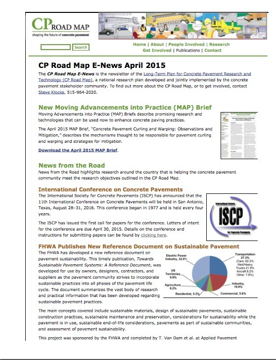 April 2015 CP Road Map E-News Released