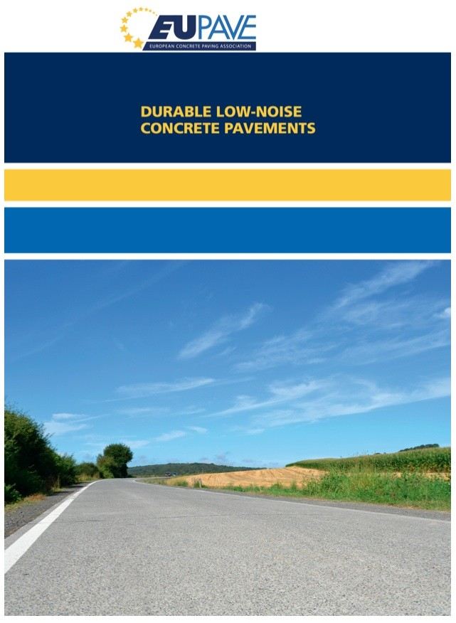 """EUPAVE Releases Brochure: """"Durable Low-Noise Concrete Pavements"""""""
