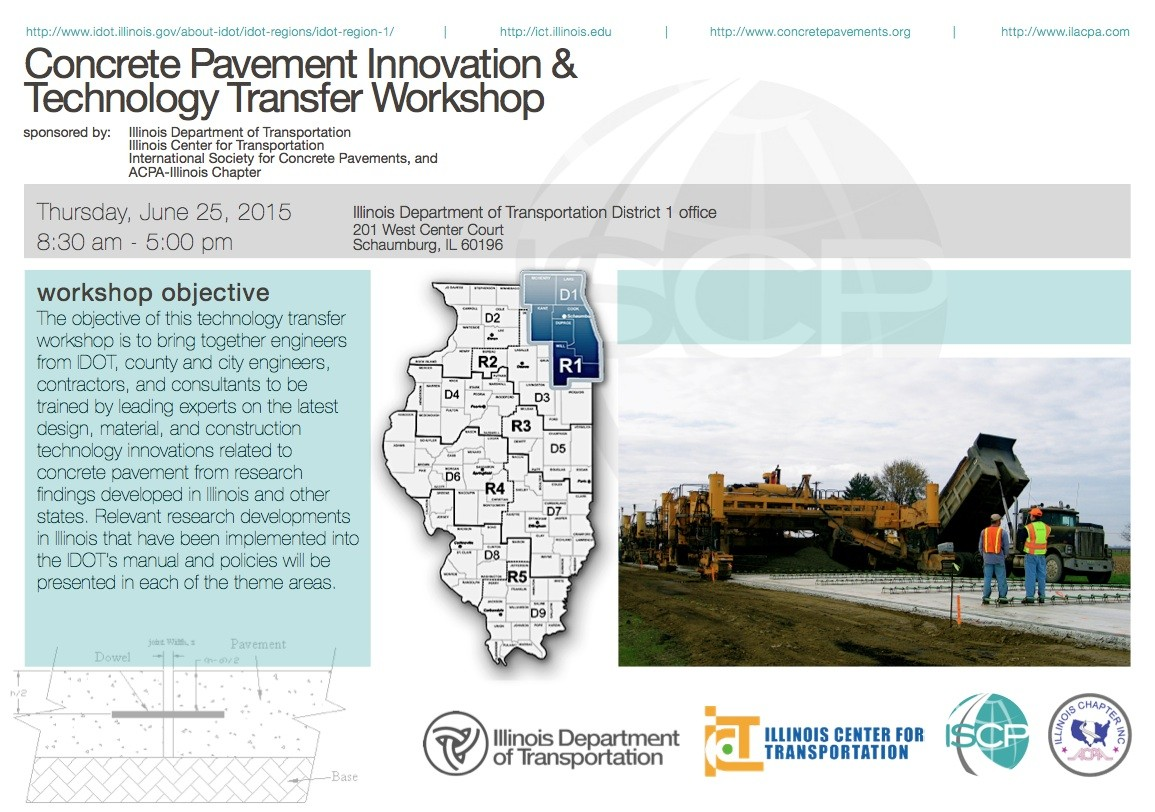 Concrete Pavement Innovation &  Technology Transfer Workshop to be Held June 25
