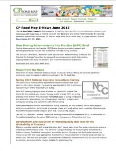June CP Road Map E-News
