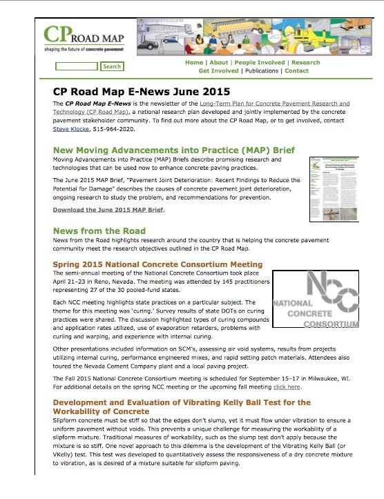June 2015 CP Road Map E-News Released