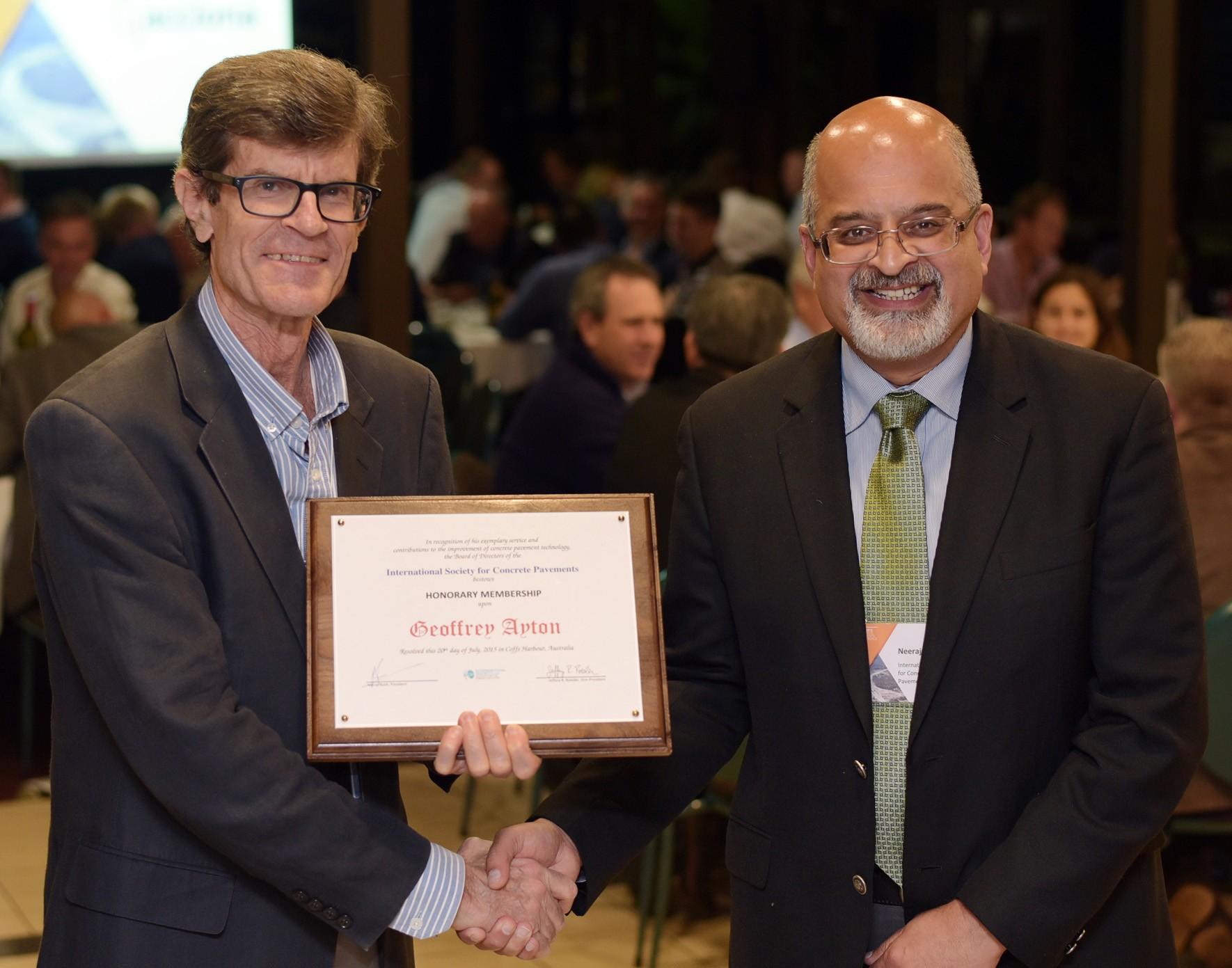 ISCP Names Geoff Ayton Honorary Member