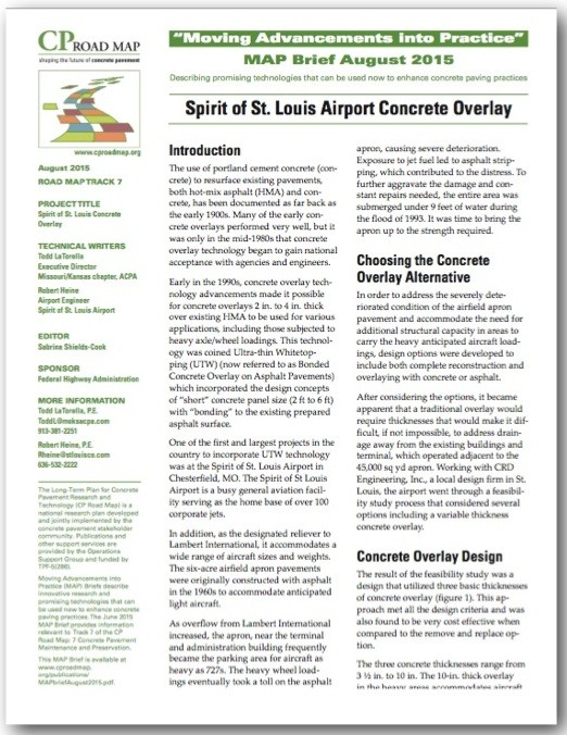 """August 19th is National Aviation Day! """"Spirit of St. Louis Airport Concrete Overlay""""—CP Road MAP August Brief & E-News"""
