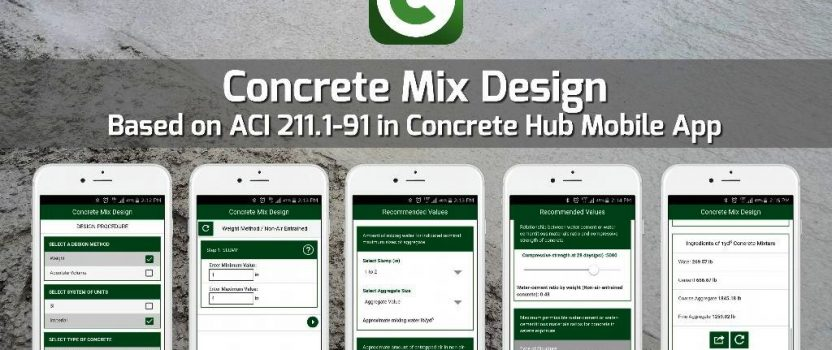Ottawa, Canada: Concrete Mix Design Mobile App