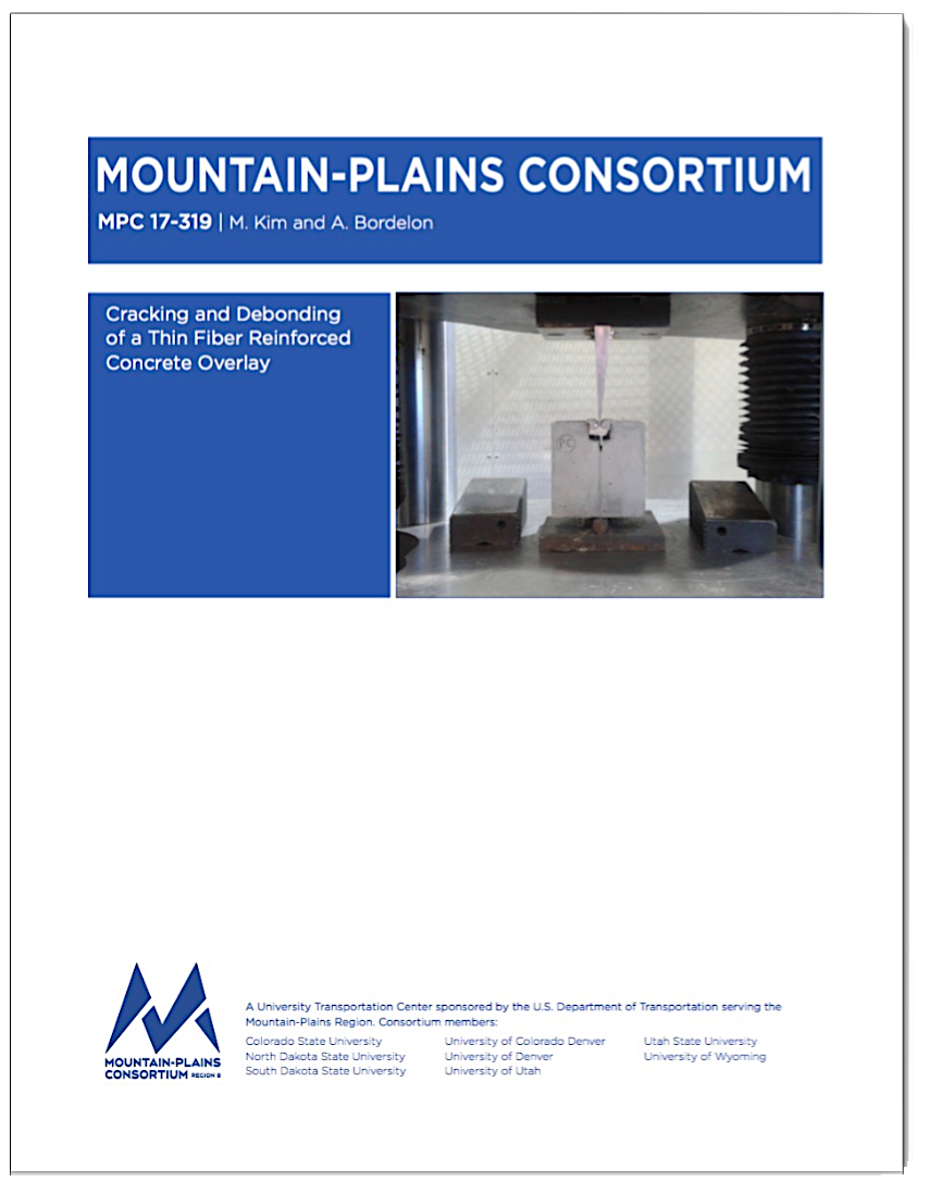 """Research Report: """"Cracking and Debonding of a Thin Fiber Reinforced Concrete Overlay"""""""