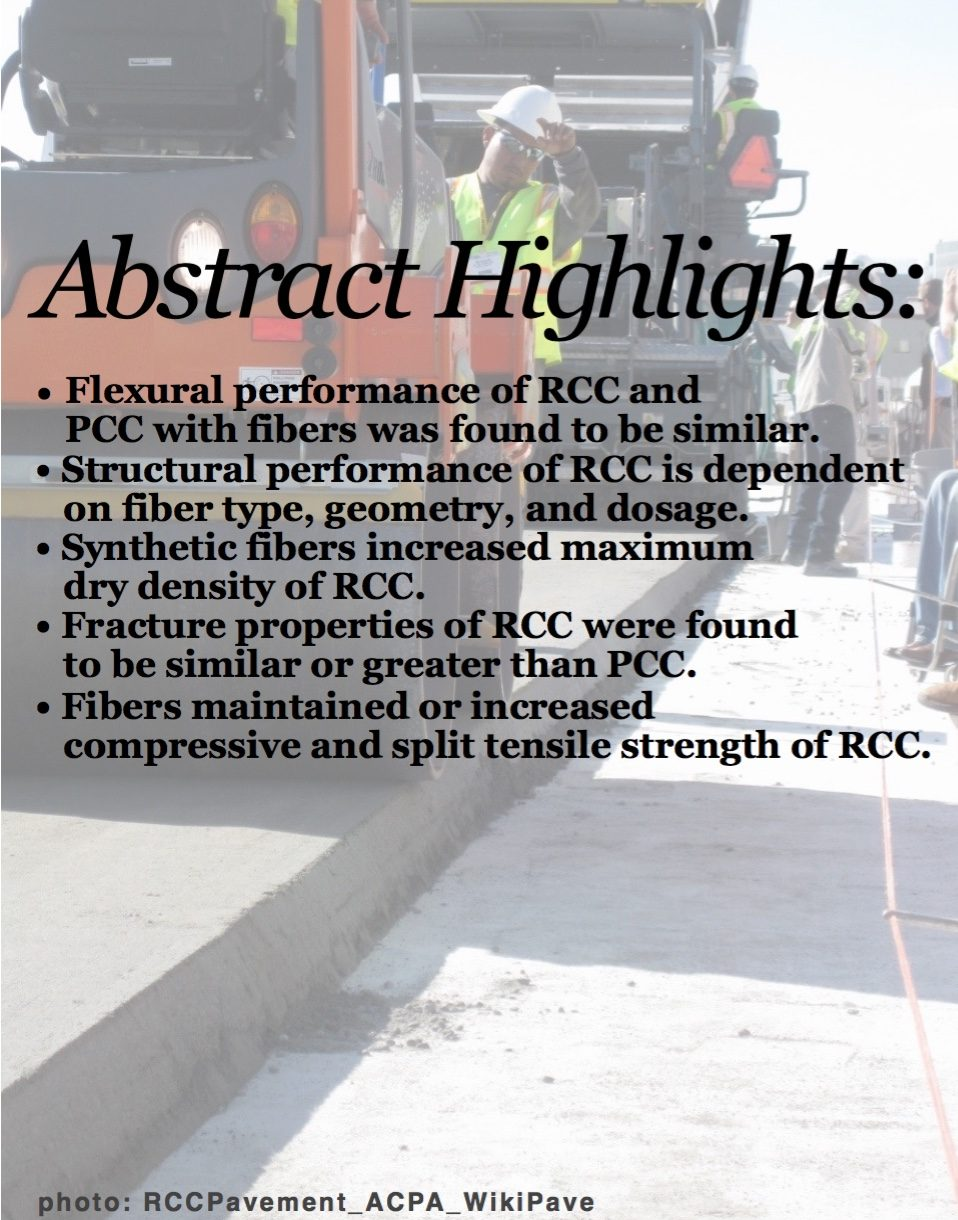 """ABSTRACT: """"Mechanical Properties of Roller-Compacted Concrete with Macro-Fibers"""""""