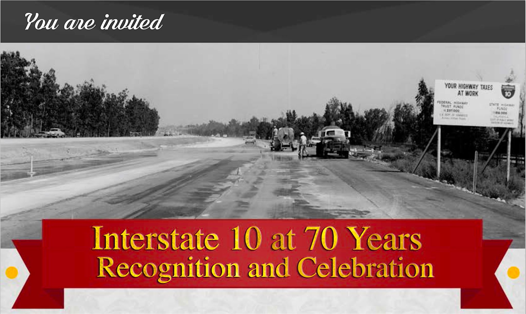 70th Anniversary Celebration of I-10 Highway Section, August 18 in Ontario, California, USA