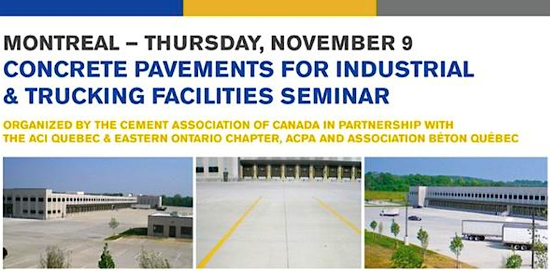 Next in Series of CAC Cross-Canada Seminars: ACI 330.2R-17 Guideline to be Held November 9 in Montreal, Canada